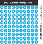 business strategy 100 icons... | Shutterstock .eps vector #322179113