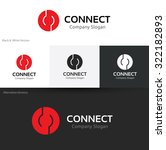 connect  networks business logo ... | Shutterstock .eps vector #322182893