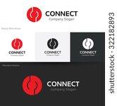 connect logo share logo... | Shutterstock .eps vector #322182893