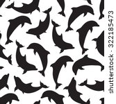 seamless pattern with dolphins. ... | Shutterstock .eps vector #322185473