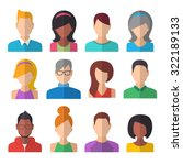 people icons set. team concept. ... | Shutterstock .eps vector #322189133