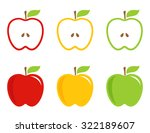 yellow  green and red stylized... | Shutterstock .eps vector #322189607