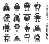 robot icons set  vector robot | Shutterstock .eps vector #322216877