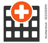hospital vector icon. style is... | Shutterstock .eps vector #322220393