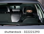 excited thief getting away with ... | Shutterstock . vector #322221293
