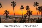 Palm Trees On Manhattan Beach ...