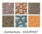 ground seamless patterns set ... | Shutterstock .eps vector #322259447