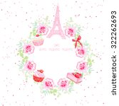 flowers  cupcakes  eiffel tower ... | Shutterstock .eps vector #322262693
