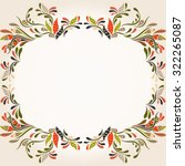 colorful autumn frame   vector... | Shutterstock .eps vector #322265087
