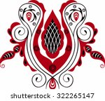 black and red stylized... | Shutterstock .eps vector #322265147