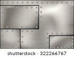 riveted steel rivets and screws ... | Shutterstock .eps vector #322266767