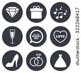 wedding  engagement icons....   Shutterstock .eps vector #322268417