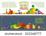 organic healthy hand sketched... | Shutterstock .eps vector #322268777
