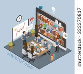 creative team concept in 3d... | Shutterstock . vector #322270817