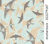 flying swallow pattern  vector  | Shutterstock .eps vector #322279187