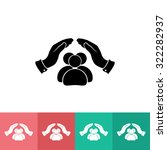 safe peoples    vector icon ... | Shutterstock .eps vector #322282937