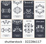 set flyer design template... | Shutterstock .eps vector #322286117