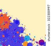 vibrant bright blue and orange...   Shutterstock .eps vector #322300997