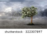 concept of loss your money.... | Shutterstock . vector #322307897