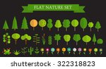 paper trendy flat trees and... | Shutterstock . vector #322318823