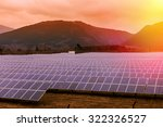 powerplant of solar panels at... | Shutterstock . vector #322326527