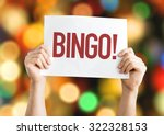 bingo  placard with bokeh... | Shutterstock . vector #322328153