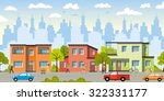 city landscape with modern... | Shutterstock .eps vector #322331177