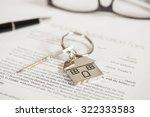mortgage loan agreement... | Shutterstock . vector #322333583