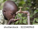 water scarcity in the world... | Shutterstock . vector #322340963