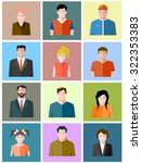 set of icons of different people | Shutterstock . vector #322353383