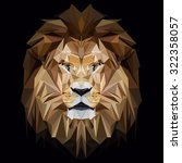 Lion Low Poly Design. Triangle...