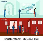 art gallery visitors and... | Shutterstock .eps vector #322361153