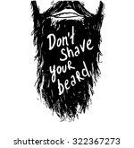 "vintage poster ""don't shave... | Shutterstock .eps vector #322367273"
