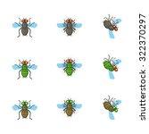 cartoon fly flies. cartoon fly... | Shutterstock .eps vector #322370297