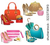 vector fashion accessories set | Shutterstock .eps vector #322373093