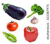 Vegetables. Eggplant  Peppers ...