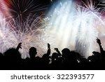 new year concept   cheering...   Shutterstock . vector #322393577