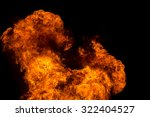 fire flame explosion on black... | Shutterstock . vector #322404527