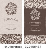 set of antique greeting cards ... | Shutterstock .eps vector #322405487