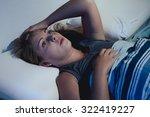 sleep disorder  insomnia. young ... | Shutterstock . vector #322419227