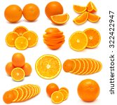 collection of oranges isolated... | Shutterstock . vector #322422947
