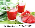 fresh watermelon juice in the... | Shutterstock . vector #322426517