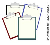 set clipboard with a blank...   Shutterstock .eps vector #322430657