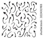 isolated raster hand drawn... | Shutterstock . vector #322431983