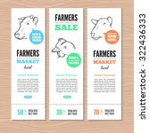 vertical banners with cow ... | Shutterstock .eps vector #322436333