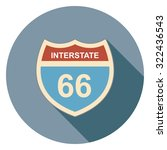 interstate sign flat icon in... | Shutterstock .eps vector #322436543