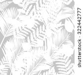 tropical leaves design. vector... | Shutterstock .eps vector #322442777