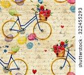 hand drawn watercolor pattern...   Shutterstock . vector #322455293