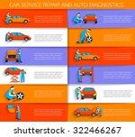 set of auto mechanic car... | Shutterstock .eps vector #322466267