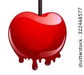 sweet caramel apple | Shutterstock .eps vector #322468577